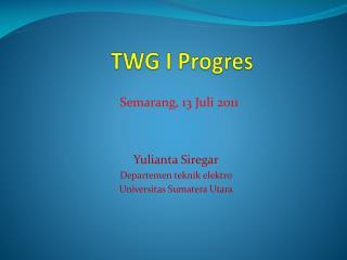 TWG I  Progres