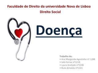 Faculdade de Direito da universidade Nova de Lisboa                               Direito Social