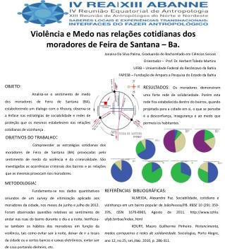 Violência e Medo nas relações cotidianas dos moradores de Feira de Santana –  Ba .