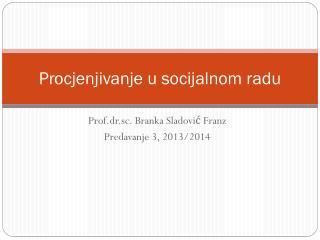 Procjenjivanje u socijalnom radu