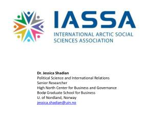 Dr. Jessica  Shadian Political Science and International Relations Senior Researcher