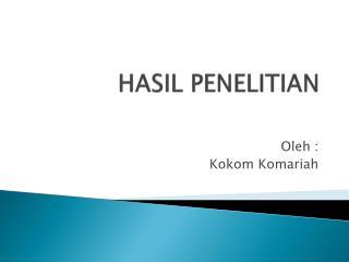 HASIL PENELITIAN
