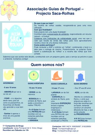 Associação Guias de Portugal – Projecto Saca-Rolhas