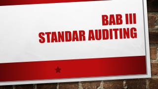 BAB  III Standar  auditing