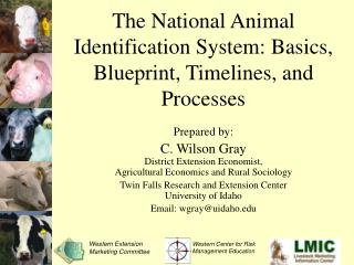 The National Animal Identification System: Basics, Blueprint, Timelines, and Processes