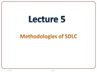 Methodologies of SDLC