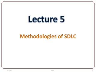 Methodologies of SDLC