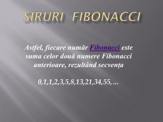 Siruri fibonacci