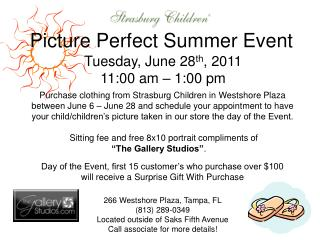Picture Perfect Summer Event