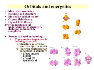 Orbitals and energetics