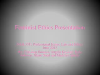 Feminist Ethics Presentation