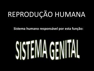 REPRODU��O HUMANA