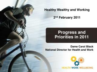Progress and Priorities in 2011