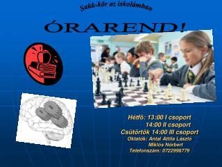 Sakk-kör az iskolámban