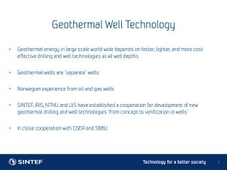 Geothermal Well Technology