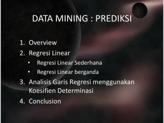 DATA MINING : PREDIKSI