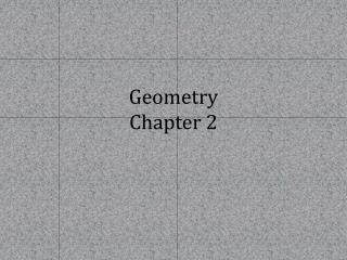 Geometry Chapter 2