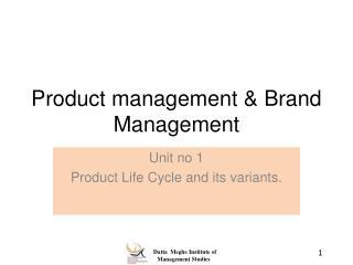 Product management & Brand Management