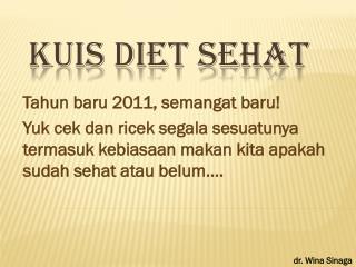Kuis Diet Sehat