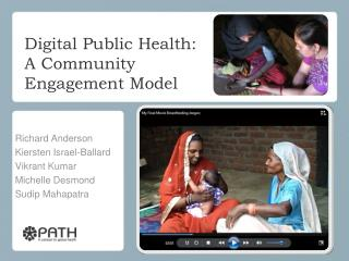 Digital Public  Health: A Community  Engagement Model