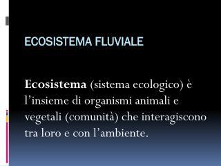 Ecosistema fluviale