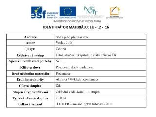 Identifikátor materiálu:  EU -  12  -   16