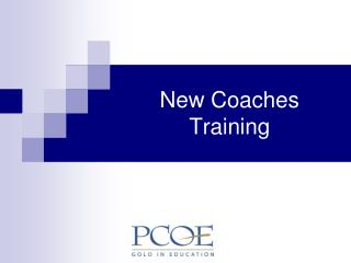 New Coaches Training