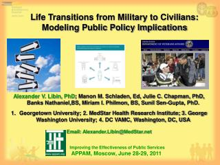 Life Transitions from Military to Civilians:  Modeling Public Policy Implications
