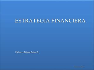 ESTRATEGIA FINANCIERA