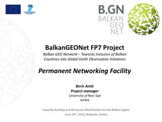 Capacity Building and Resources Mobilization for the Balkan region