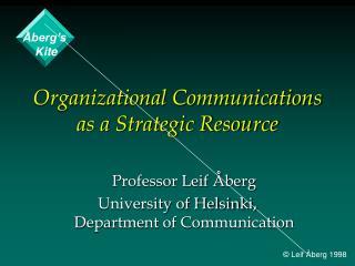 Organizational Communications as a Strategic Resource