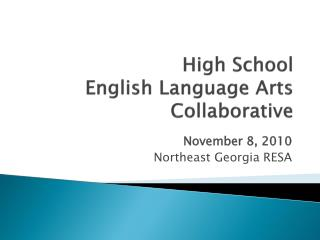High School  English Language Arts Collaborative