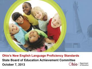 Ohio's New English Language Proficiency Standards