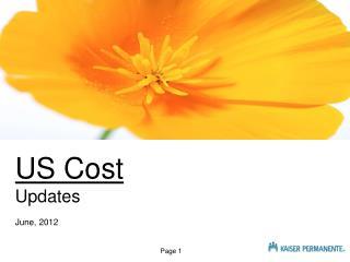 US Cost Updates June, 2012