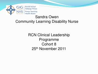 RCN Clinical Leadership Programme Cohort 8 25 th  November 2011