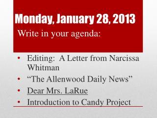 Monday, January 28, 2013
