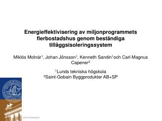 Energieffektivisering av miljonprogrammets
