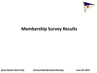 Membership Survey Results