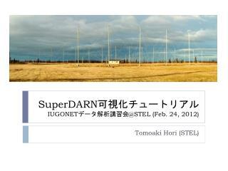 SuperDARN 可視化チュートリアル IUGONET データ解析講習会 @STEL (Feb. 24, 2012)