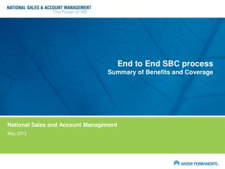 End to End SBC process Summary of Benefits and Coverage