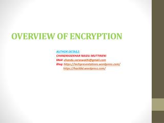 OVERVIEW OF ENCRYPTION