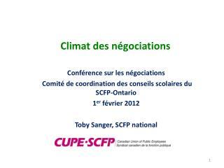 Climat des négociations