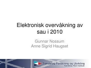 Elektronisk overvåkning av sau i 2010