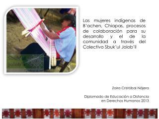 Zaira Crist óbal Nájera Diplomado  de Educación a Distancia  en Derechos Humanos 2013