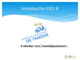 Introductie ESIS B