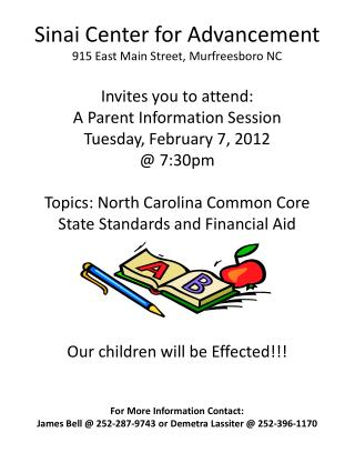 SCFA Parent Flyer