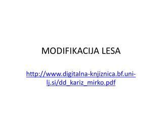 MODIFIKACIJA LESA