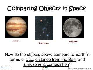 Comparing Objects in Space