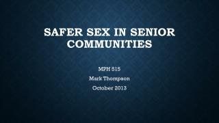Safer Sex in Senior Communities
