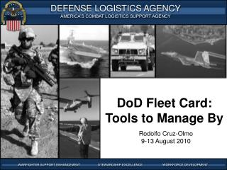 DoD Fleet Card: Tools to Manage By